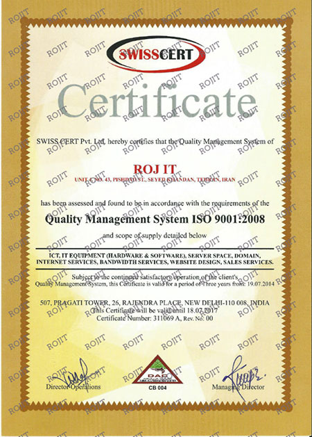 RojIT ISO 9001